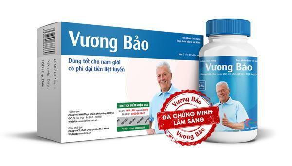 Vương Bảo sản phẩm giúp hỗ trợ điều trị phì đại tuyến tiền liệt 1