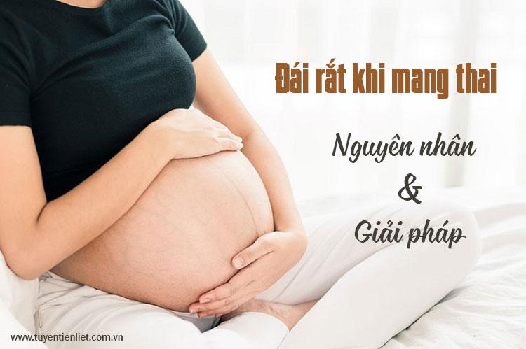Chứng đái rắt khi mang thai: Nguyên nhân và giải pháp 1